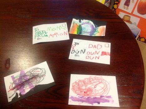 Various postcards.